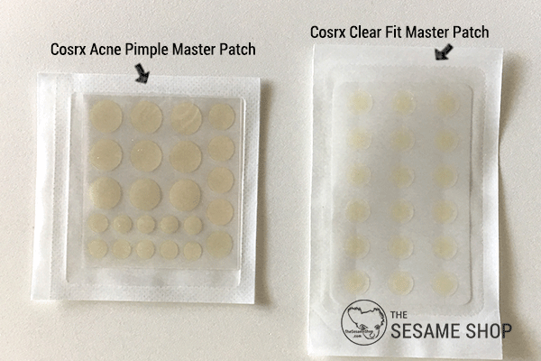 Cosrx Clear Fit Master Patch vs Cosrx Acne Pimple Master Patch - size