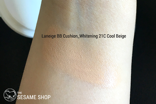 Laneige Bb Cushion Whitening 21c Review Swatches